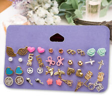 20 Paar/Set Mixed Damen Ohrstecker Ohrring Ohrschmuck Stud Earrings Modeschmuck