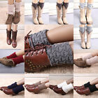 Women Winter Crochet Knitted Shell Design Boot Cuffs Toppers Liner Leg Warmers
