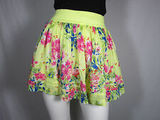 Abercrombie & Fitch 2-Layer Yellow Floral Cotton Skirt sz XS #212
