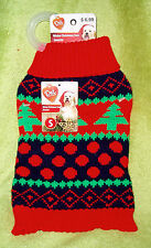 NWT Pet Central Dog Winter Christmas Tree Sweater ~ Size Small - Red
