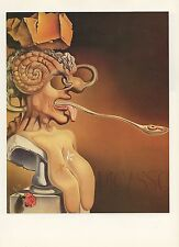 "1976 Vintage SALVADOR DALI ""PORTRAIT OF PICASSO"" WOW! COLOR Art Print Lithograph"