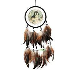 New Wolf Totem Dream Catcher Feather Bead Car Room Window Wall Hanging Decor