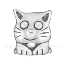 Lovelinks Bead Sterling Silver, Crouching Cat Bead Fashion Charm Jewelry TT045