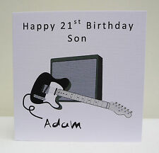 Personalised Birthday Card Guitar 18th 21st 30th 40th 50th - Any Age