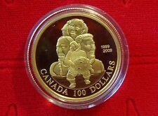 Canada 2009 14-Karat $100 Gold Coin - 10th Anniversary of Nunavut – No Tax