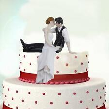 Romantic Funny Wedding Cake Topper Figure Bride & Groom Couple Bridal Decor