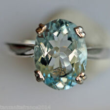 OR 18 carats, AIGUE MARINE NATURELLE 2,71 cts SERTIE SUR BAGUE 2,95 grammes OR