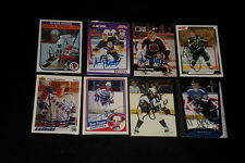 LOT OF (40) LEGENDARY HOCKEY PLAYERS SIGNED AUTOGRAPHED HOCKEY CARDS