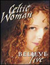 CELTIC WOMAN - BELIEVE : LIVE DVD ~ IRISH CLASSICS / POP ~ REGION 4 PAL *NEW*