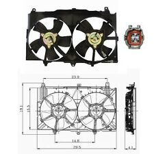 Dual Radiator & Condenser Fan Assembly Fits: 2003 - 2006 Infinity G35 V6 3.5L