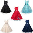 Stock Sash Flower Girl Dresses Party Communion Dress Birthday Bridesmaid Dresses