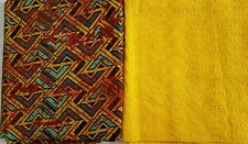 Nigerian Multicolour Adire 3 Yards with Dry lace 2 Yards- African fabric