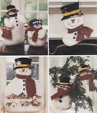 Christmas Holiday Snowman Cardholder Stocking Ornament MORE UNCUT Sewing Pattern
