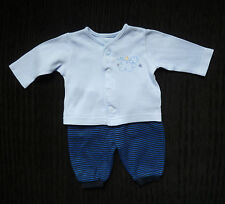 Baby clothes BOY premature/tiny 7.5lbs/3.4kg outfit cardigan-style top/trousers