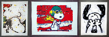 Snoopy Flying Ace Can't Believe Eyes Get A Grip 3 Print Canvas Set Tom Everhart