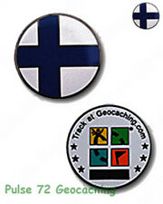 Finnish Flag Micro Geocoin For Geocaching - Finland