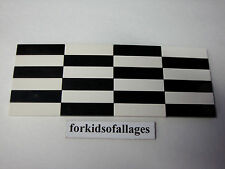24 Bulk Lego 1x4 FINISHING TILES PLATES Smooth Flat Black & White Floor Roof +