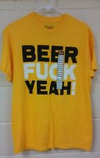 BEER F-CK YEAH T-SHIRT (MEDIUM) BEER DRINKING- NEW WITH TAGS FUNNY
