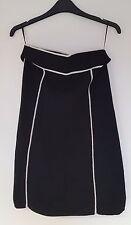 Ladies East Black Woollen Formal Business Skirt Size 10