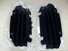 NEW OEM KAWASAKI 2010-2016 KX 250F KX250F BLACK RADIATOR GUARDS SCREENS SHIELDS