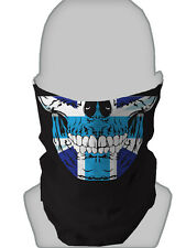 BLUE UNION JACK SKULL DESIGN SNOOD NECKTUBE NECKWARMER FACEMASK L&S PRINTS