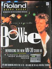 ROLAND USERS GROUP Magazine V8 N2 DAVID BOWIE D-70 MV-30 MC-50 PK-5 SPD-8 S-770