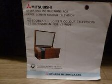 Mitsubishi VS-500B (Large Screen Colour TV Operating Instructions)