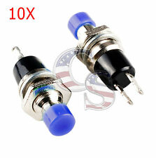 New Blue 10Pcs Mini Momentary On/Off Lockless Micro Push Button SPST Switch