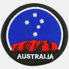 Australia Mountain Ayers Rock Uluru Travel Embroidered Iron-On Patches #0404