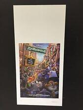 Locandina film Zootropolis 2016 33x70 cm Poster Cinema Prima Ed. ITA