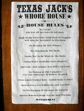 """(552) OLD WEST BROTHEL TEXAS JACK'S WHORE HOUSE RULES NOVELTY POSTER 11""""x17"""""""
