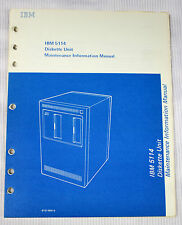 IBM 5114 Diskette Unit Maintenance Manual SY31-0551-0  *First Edition Jan 1978*