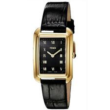 Fendi Womens Classico Rectangle Black Dial Small Swiss Quartz Watch F700431011