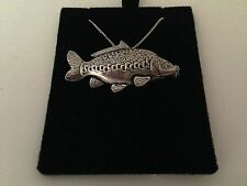 F36 Mirror Carp on a 925 sterling silver Necklace Handmade 30 inch chain