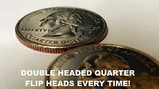Two Headed Quarter 2 Sided Double Side Heads Magic Trick Prank Gag Funny Gift