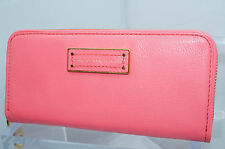 Marc By Marc Jacobs Wallet Too Hot To Handle New Pink Zip Around Leather NWT