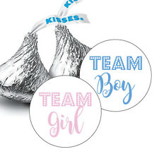 108 Team Boy OR Team Girl? GENDER REVEAL BABY SHOWER HERSHEY KISS CANDY STICKERS
