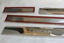 Fit 08-16 Mitsubishi Lancer EX Sedan Chrome Scuff Plate Door Sill Cover Trim