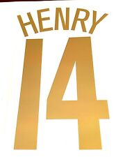 2005-06 Arsenal UCL Commemorative Home Shirt HENRY#14 Football Name Number Set