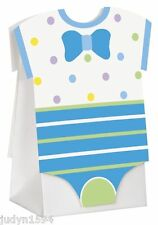 BLUE DOTS BABY SHOWER FAVOR BAGS ONESIES BOY POLKA DOT PARTY DECORATION BOX