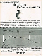 PUBLICITE ADVERTISING  1963  REVILLON  parfum DETCHEMA  CARNET DE BAL