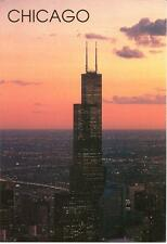 Chicago - Sears Tower at Dusk- Used Postcard