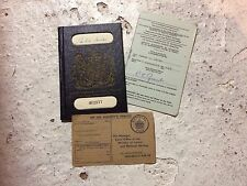 Old British Passport 1960s Unclipped Excellent Condition
