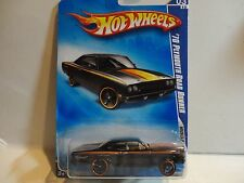2009 Hot Wheels #79 Black '70 Plymouth Road Runner w/Copper Rim OH5 Spoke Wheels