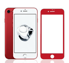 iPhone 7 Screen Protector Premium Full Cover 9H Tempered Glass - Red
