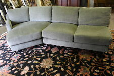 Larry Lazlo for Directional 2 Piece Mid-Century Style Sectional; Sage Green