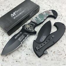 "8"" MTECH Spring Assisted Camo MIDNIGHT OPS Tactical Folding Pocket Knife"
