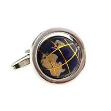 Earth Globe Functional Cufflinks + Free Box & Cleaner