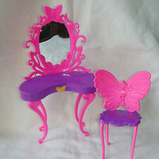 Barbie Dream House Dressing Table Vanity Pink Furniture Diorama Doll Mattel