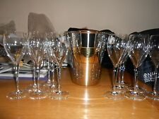 LAURENT PERRIER ICE BUCKET WITH 12 LP CHAMPAGNE GLASSES